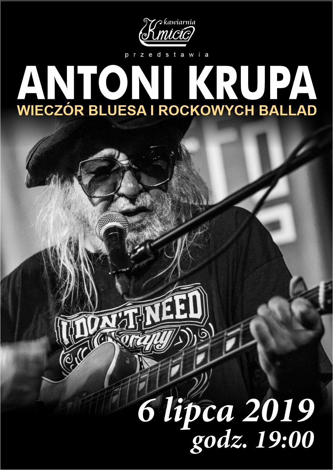 Antoni Krupa – wieczór bluesa i rockowych ballad